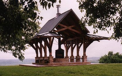 custom timber pavilion