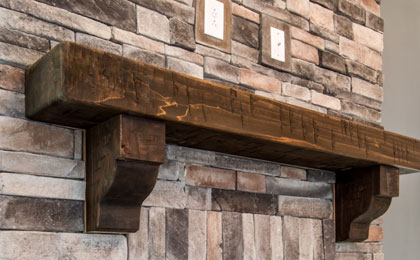 timber frame custom mantels