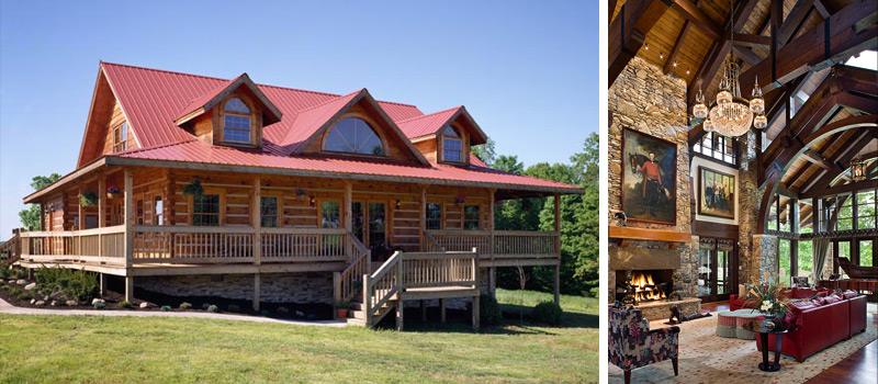 custom log home builders